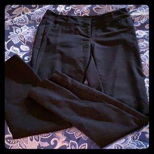 WHBM black slacks size 4R EUC